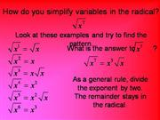 SimplifyRadicals with exponents