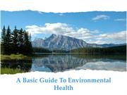 A Basic Guide To Environmental Health