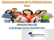 Distance Learning BA in Political Science  From ksou