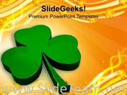 ILLUSTRATION OF GLOSSY CLOVER HOLIDAY POWERPOINT TEMPLATE