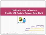 USB Monitoring Software Block USB Port Prevent Data Theft