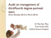 Audit on management of third and fourth degree perineal tear