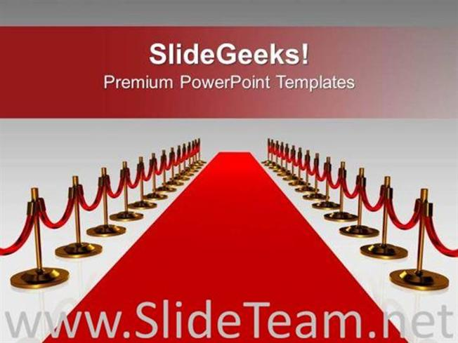 red carpet for award winners success powerpoint template powerpoint