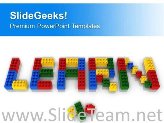 learn word with lego blocks powerpoint template powerpoint template