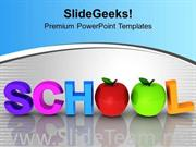 WORD SCHOOL WITH APPLES EDUCATION POWERPOINT TEMPLATE