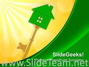KEY OF HOME REAL ESTATE POWERPOINT TEMPLATE