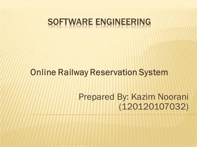 Online railway reservation system authorstream ccuart Choice Image