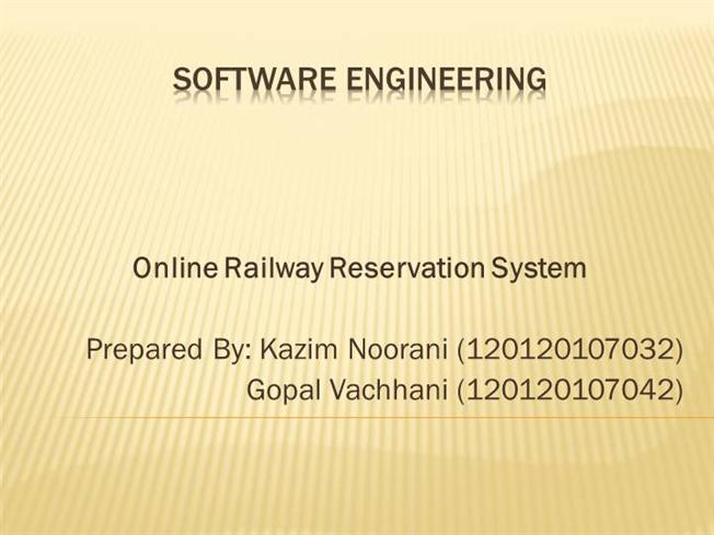 Online railway reservation system authorstream ccuart Gallery