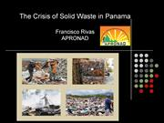 Crisis of Solid Waste in Panama.ppt