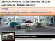 Choosing Modern Italian Furniture for your living Room - Belvisifurnit