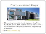 World Class Education in Technical and Management Field by Educosm