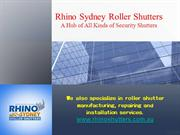 Rhino sydney roller shutters – a hub of all kinds of security shutter
