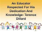 An Educator Respected For His Dedication And Knowledge- Terence Dillar