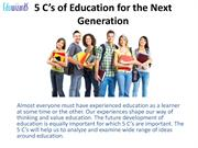 5 C's of Education for the Next Generation