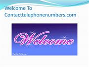 Welcome To Contacttelephonenumbers52.ppt