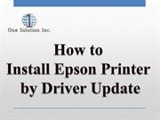 How to Install Epson Printer by Driver Update