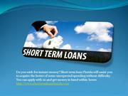 Short Term Loans – Avail Instant Cash Solution within Hours