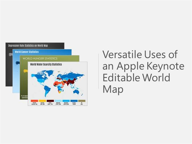 Versatile uses of an apple keynote editable world map authorstream gumiabroncs Images