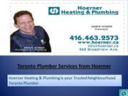 Toronto Plumber Services from Hoerner