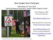 New Google, New Challenges