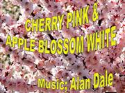 cherry pink and apple blossom white