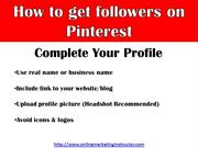 how to get followers on pinterest