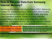 How to Recover Data from Samsung Internal Memory