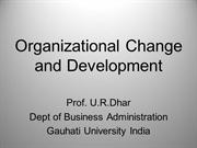 Organizational Change & Development