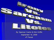 Irony vs. Sarcasm vs. Litotes