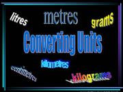 converting units