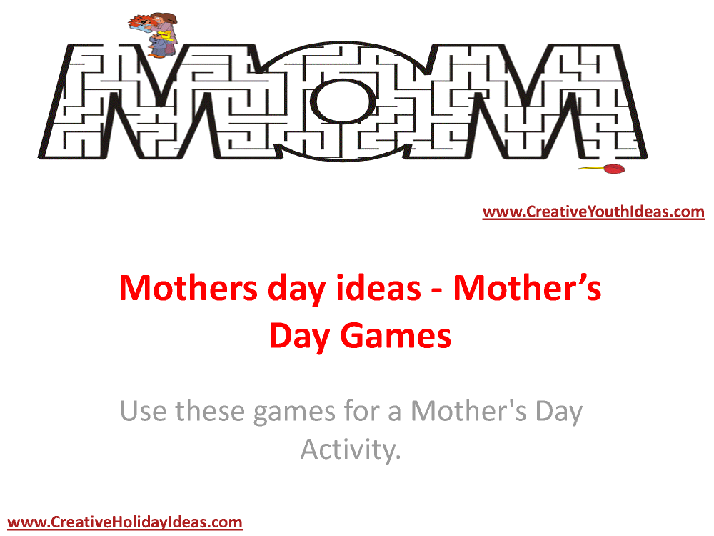 Mothers Day Ideas - Mother'S Day Games |authorSTREAM
