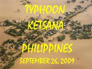 Typhoon Ketsana - 26 September 2009