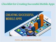 Checklist for Creating Successful Mobile Apps