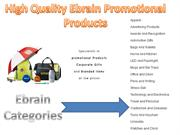 Ebrain Offers Custom Imprinted Promotional Products Service