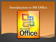 Introduction to MS office for begineer
