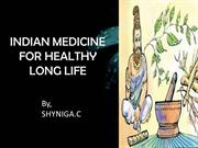 INDIAN MEDICINE FOR HEALTHY LONG LIFE