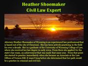 Heather Shoemaker Wyoming_Civil law Expert
