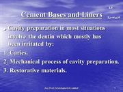 Cement, Bases and Liners L9
