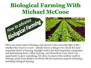Biological Farming With Michael McCooe