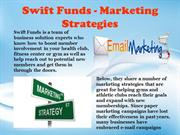 Swift Funds - Marketing Strategies