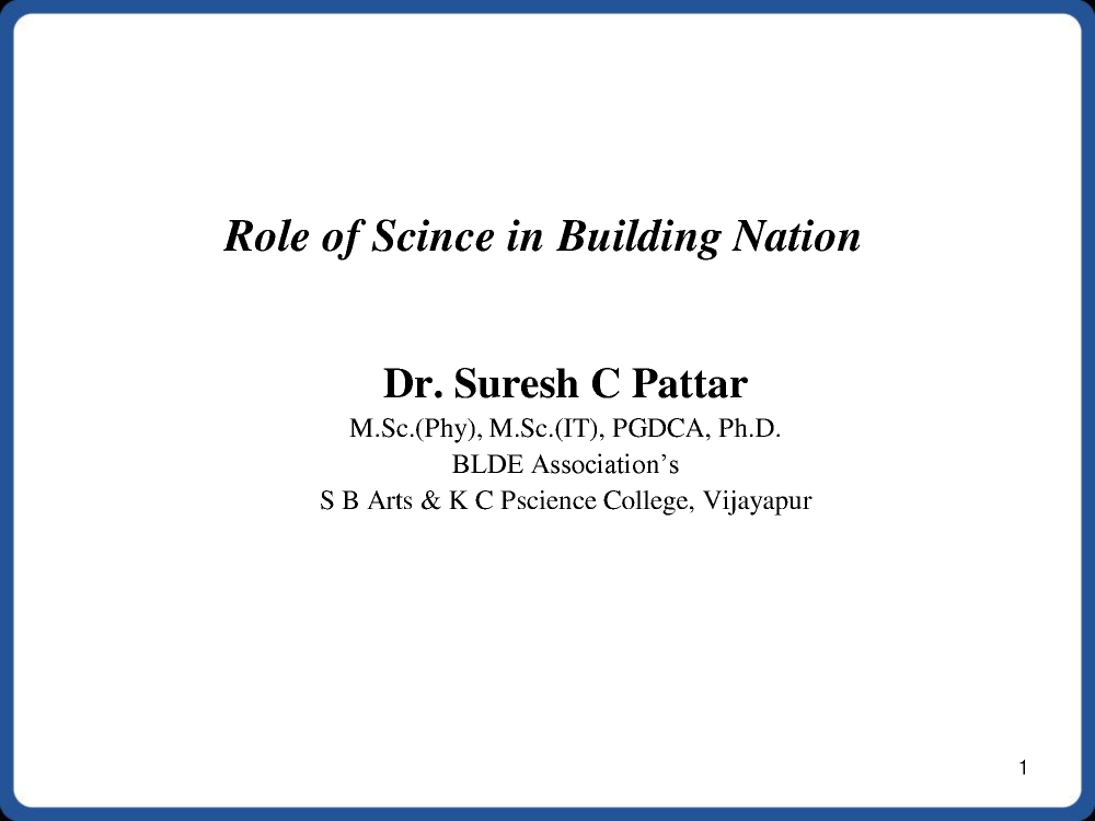 role of science in nation building authorstream
