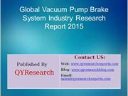 Global Vacuum Pump Brake System Market 2015 Industry Trend, Analysis,