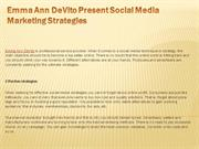 Emma Ann DeVito Present Social Media Marketing Strategies