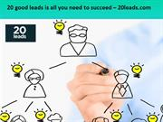 20 good leads is all you need to succeed – 20leads.com
