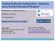 Global Refined Casting Wax Industry 2015 Market Research Report