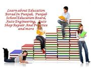 Learn about Education Borad In Punjab,  Punjab School Education Board,