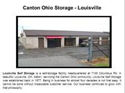 Self Storage Facility  Louisville, Oh