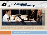 Security Guard CardTraining