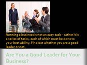 Are you a good leader