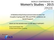 WHAT DO THE WOMEN HAVE TO SAY ABOUT SUPPORT?